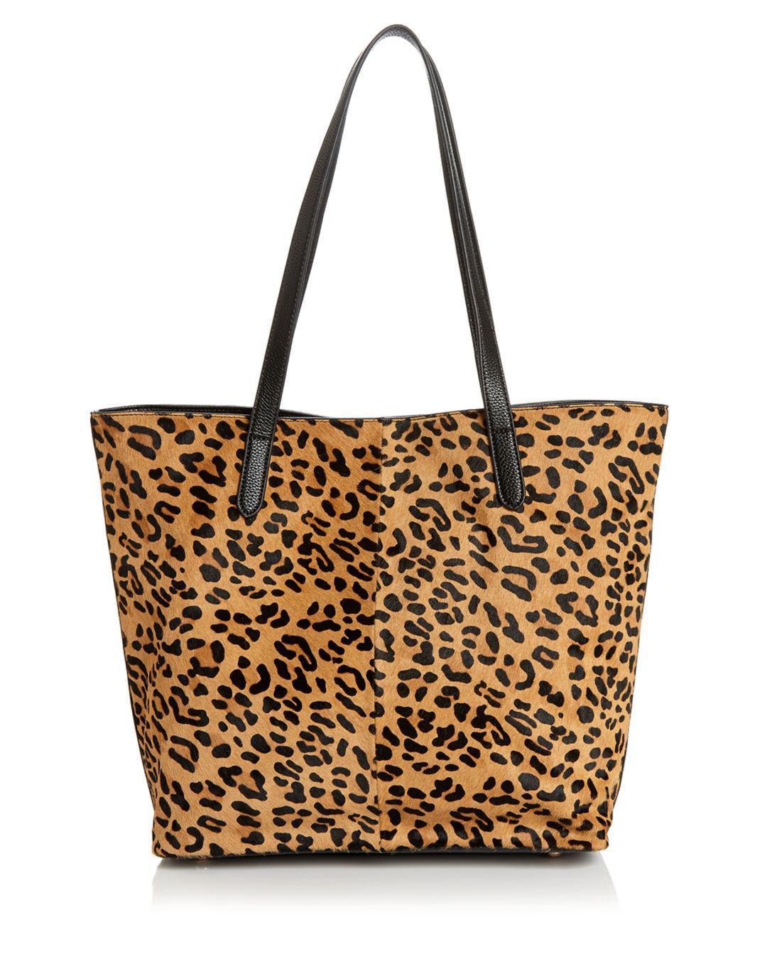 e6e4560a059a Aqua Leopard Print Calf Hair Tote - Lyst