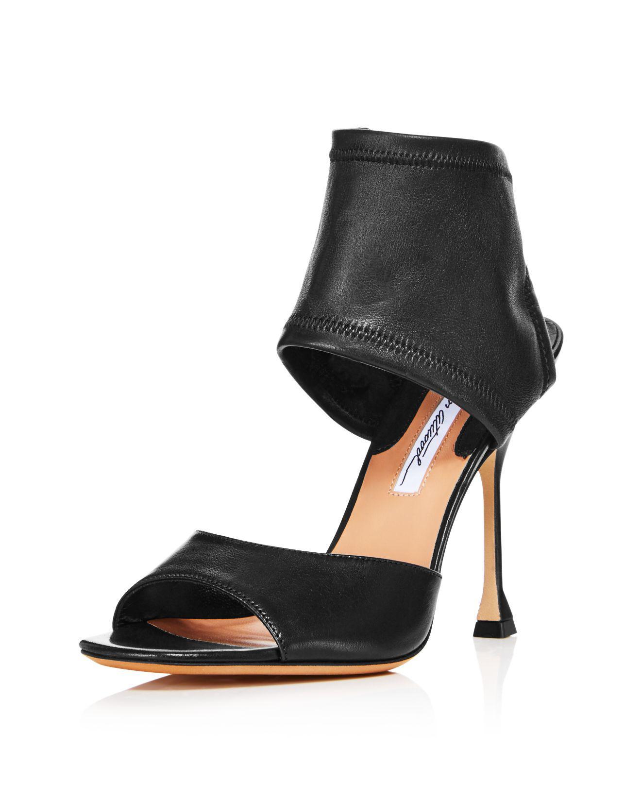 BRIAN ATWOOD Women's Stella Stretch Leather High-Heel Sandals A3zLvoj