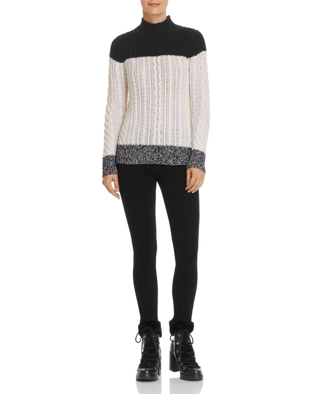 7957b29a4b9 Lyst - C By Bloomingdale's Mixed Knit Color-block Cashmere Sweater ...
