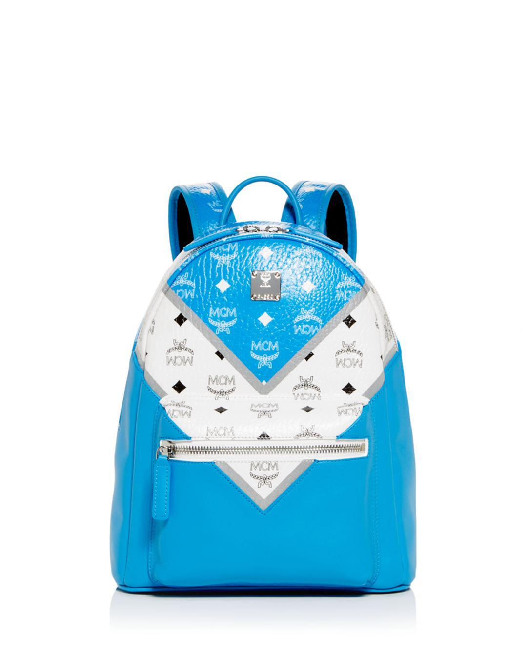 236067c4f1 Lyst - MCM Stark Medium Move Color-block Backpack in Blue