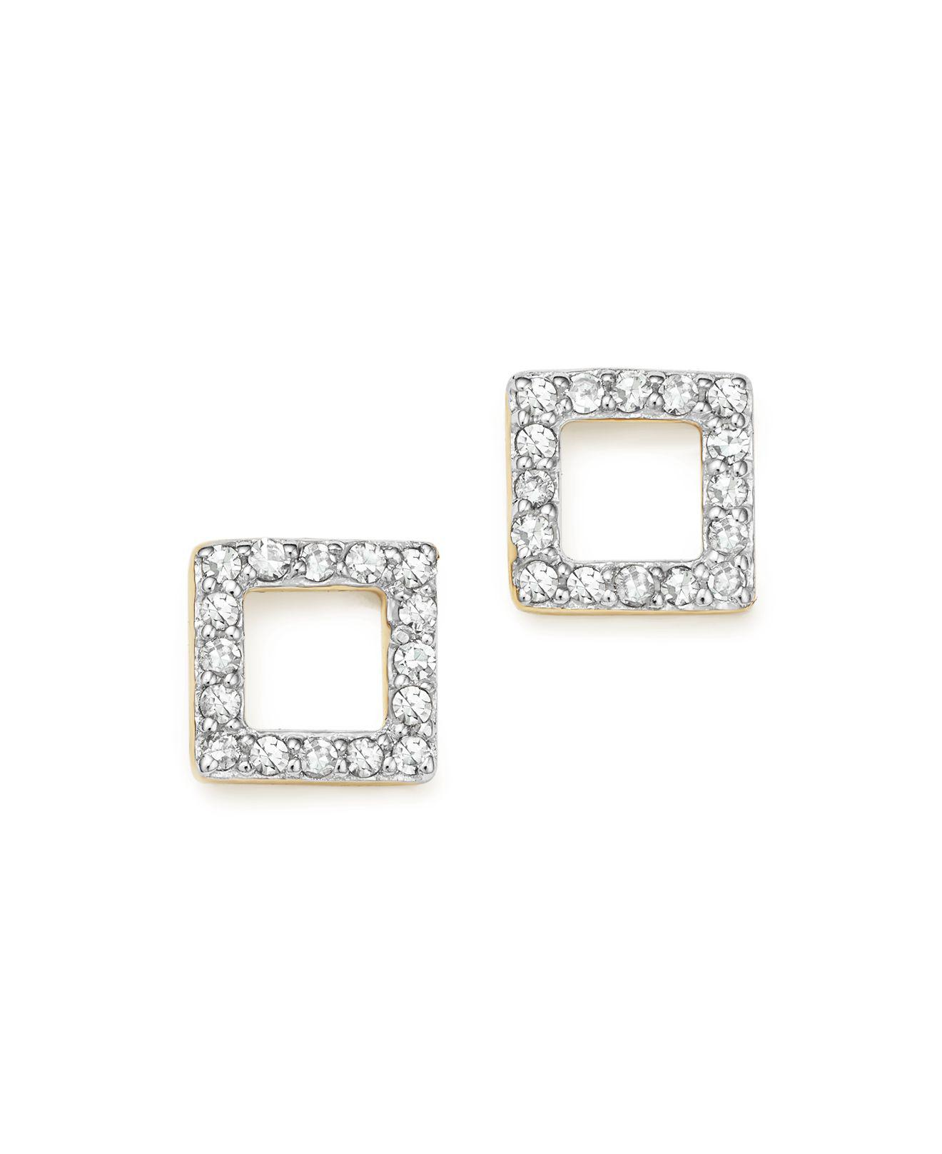 E.M. square studded earring - Metallic lwVRCHpc0