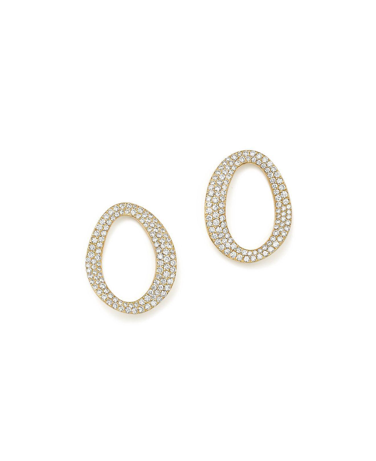 Ippolita Cherish Small Link Earrings with Diamonds 46tH061