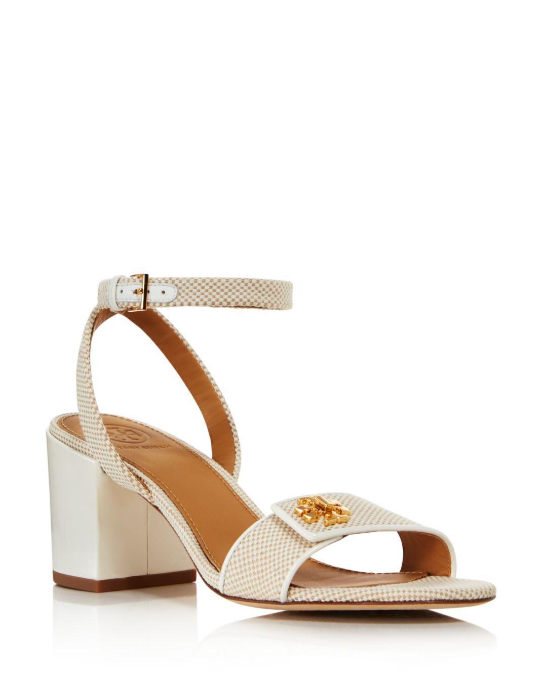 ecf3eab24fb055 Lyst - Tory Burch Women s Kira Block Heel Sandals in Natural