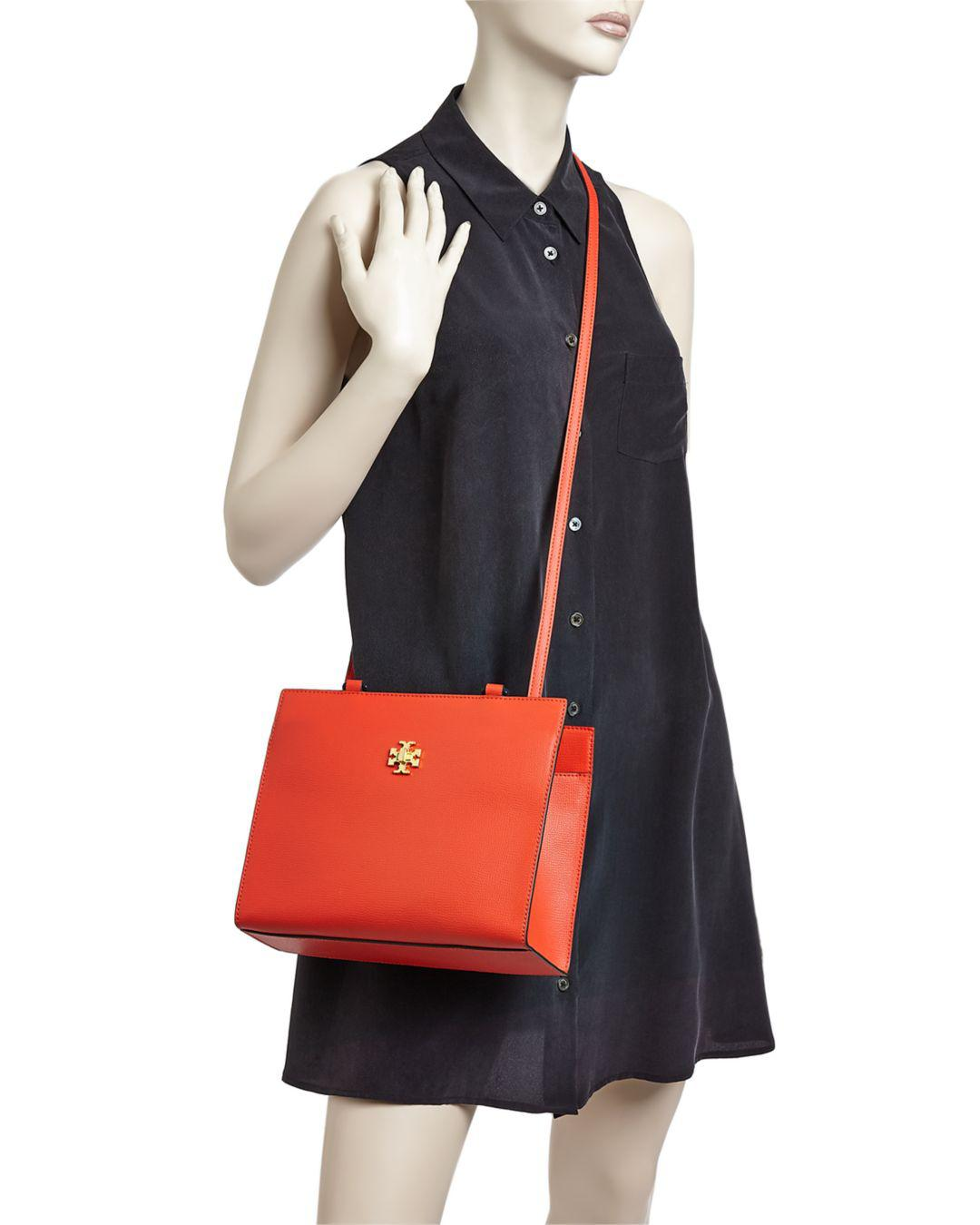 74992b3b1980 Lyst - Tory Burch Kira Small Leather Tote in Red