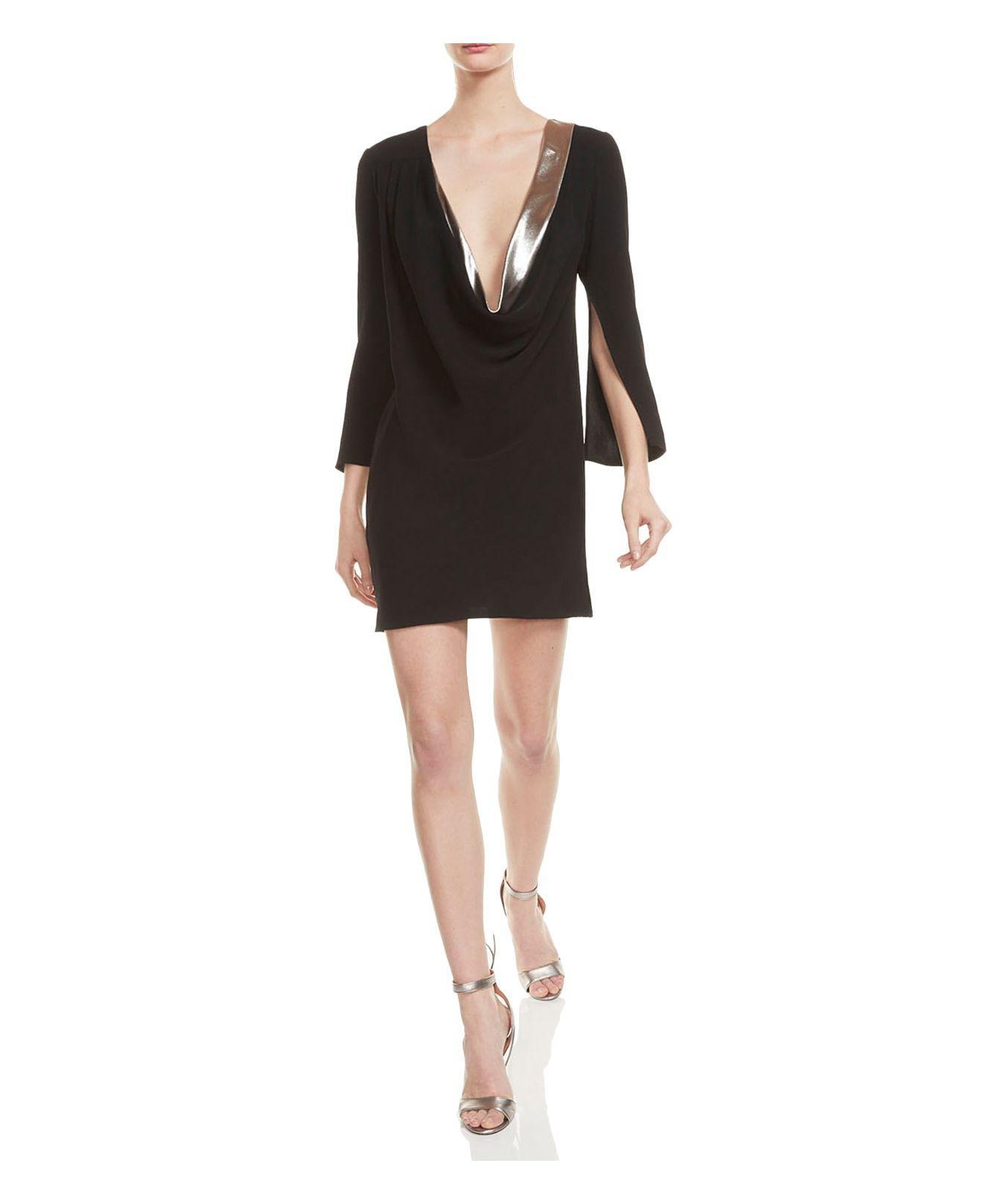 Halston Heritage Womens Fit & Flare A-Line Dress | Selena ...