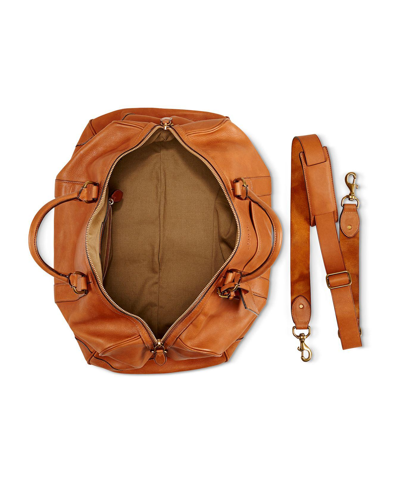 e4046b0f7c Lyst - Ralph Lauren Polo Core Leather Duffel Bag in Brown for Men