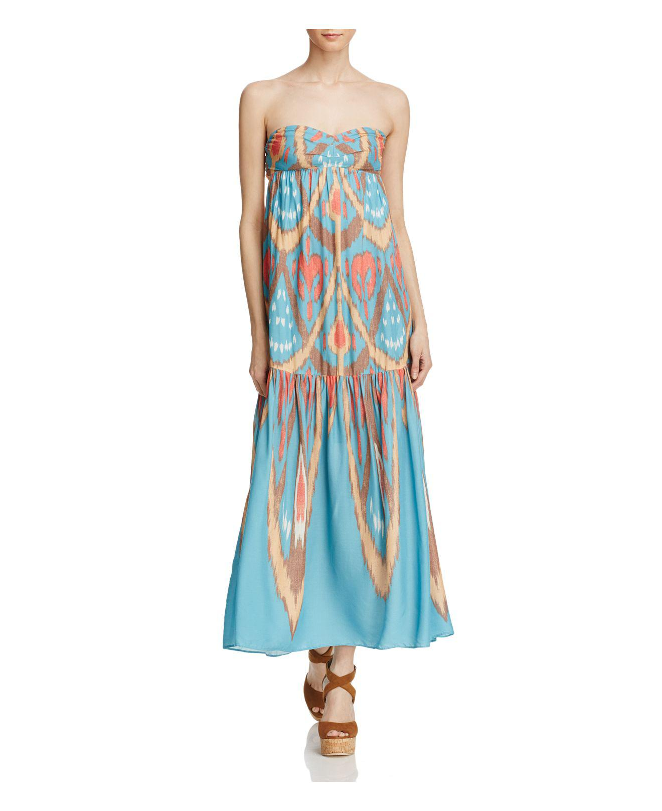 c5bd1ca990d Lyst - Free People Mojave Maxi Dress in Blue