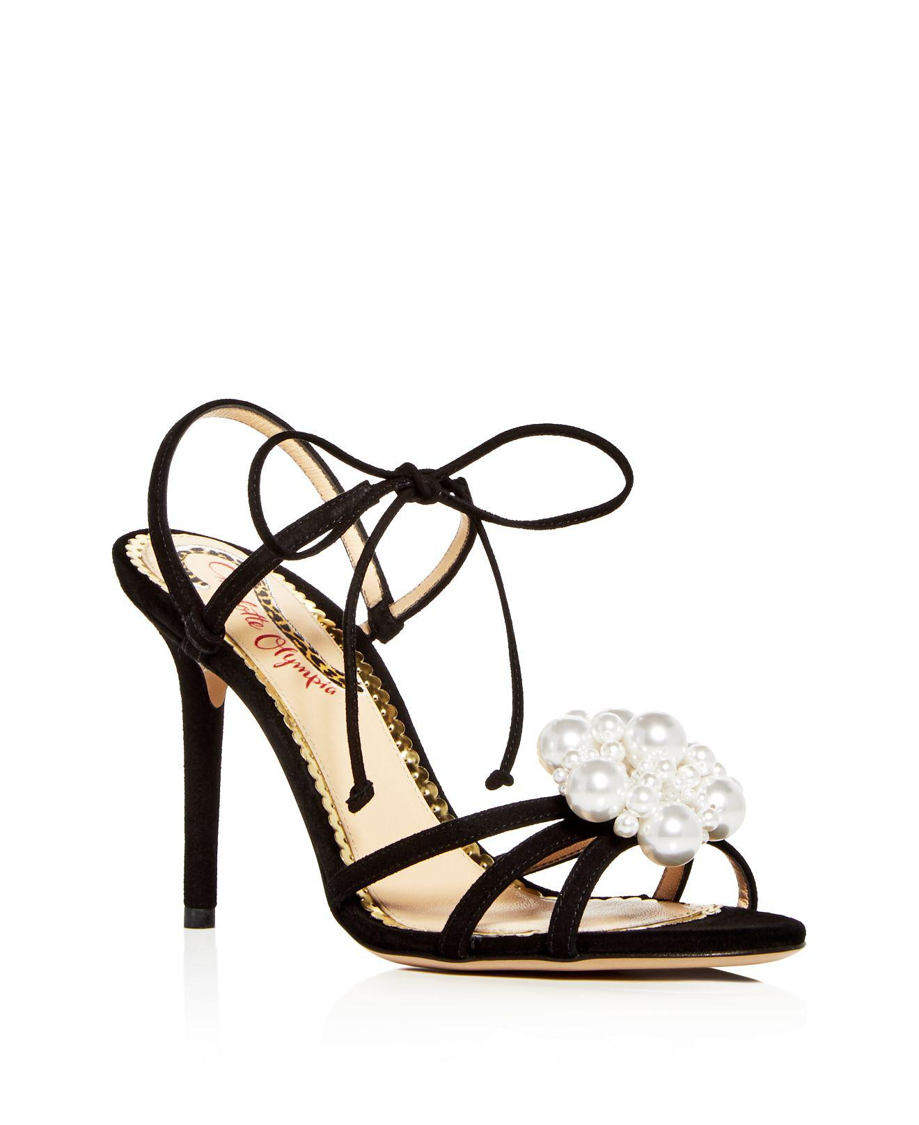 Charlotte Olympia Women's Diva Satin Strappy High-Heel Sandals