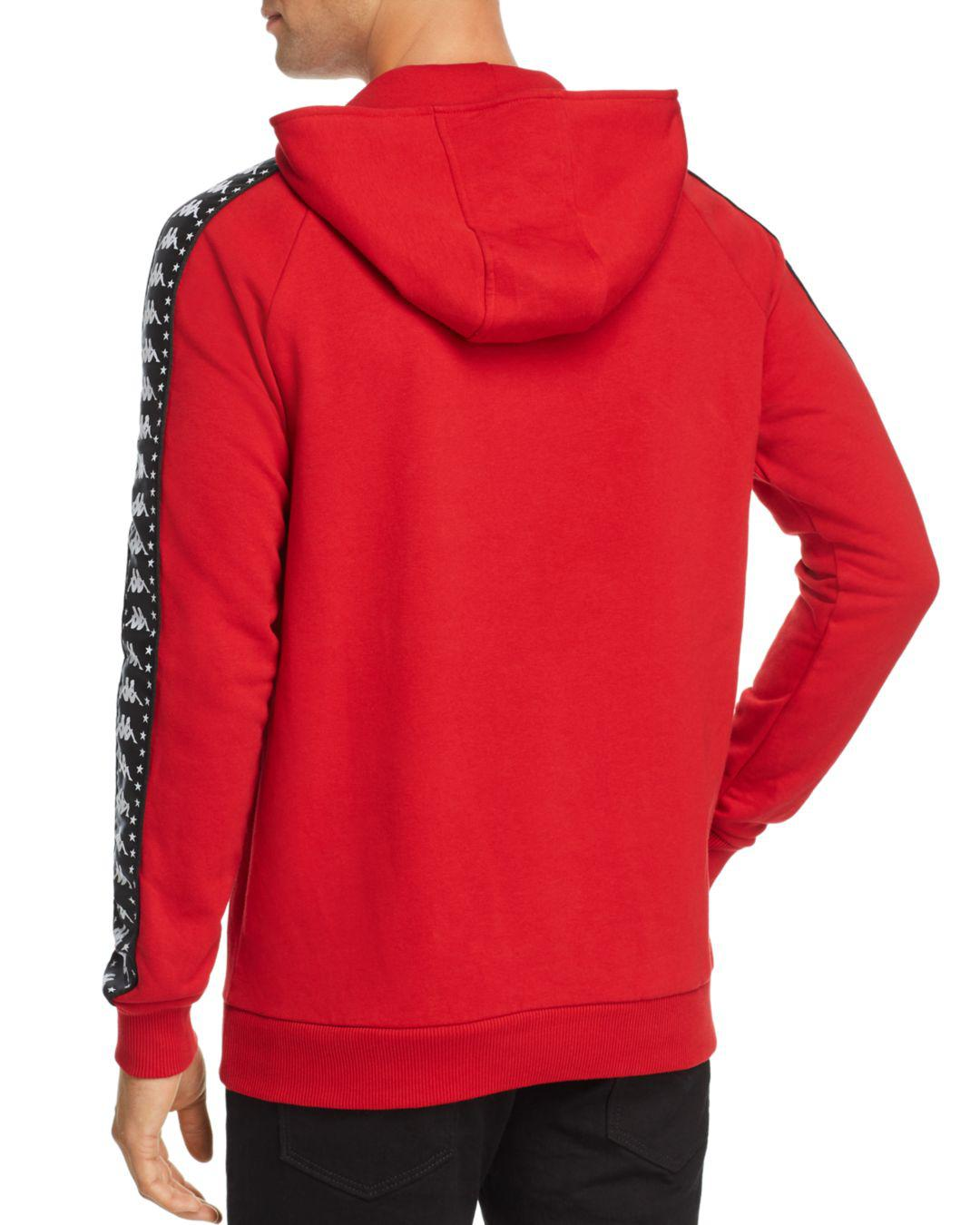 9e662809c300 Kappa Authentic Bzaleh Embossed-logo Hooded Sweatshirt in Red for Men - Lyst