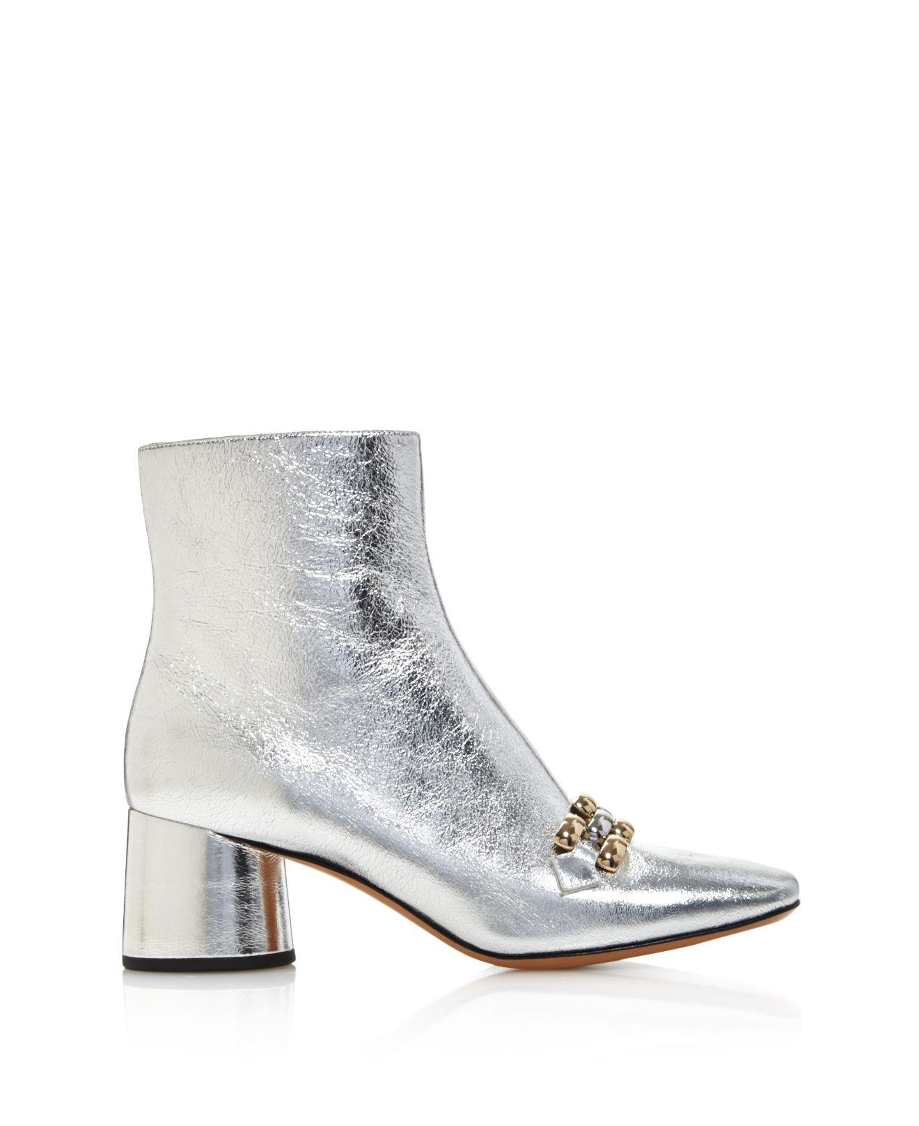 Discount Get To Buy Outlet Store Marc Jacobs Women's Remi Leather & Chain Link Ankle Booties Clearance Low Price Order Online SWGp4v0