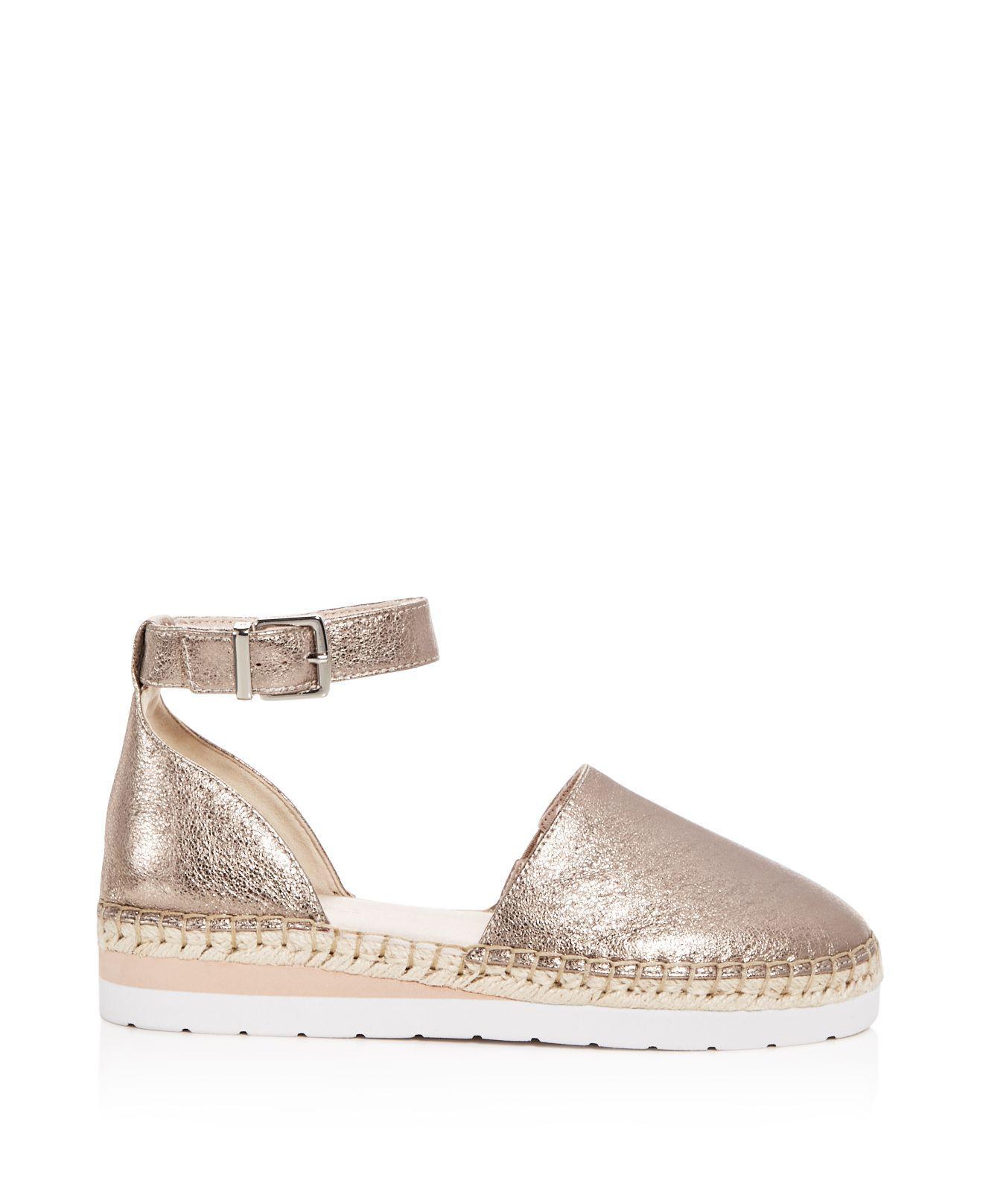 Visit Original Online Kenneth Cole Women's Babbot Leather d'Orsay Espadrille Platform Sandals Huge Surprise Cheap Online YBA2M0p