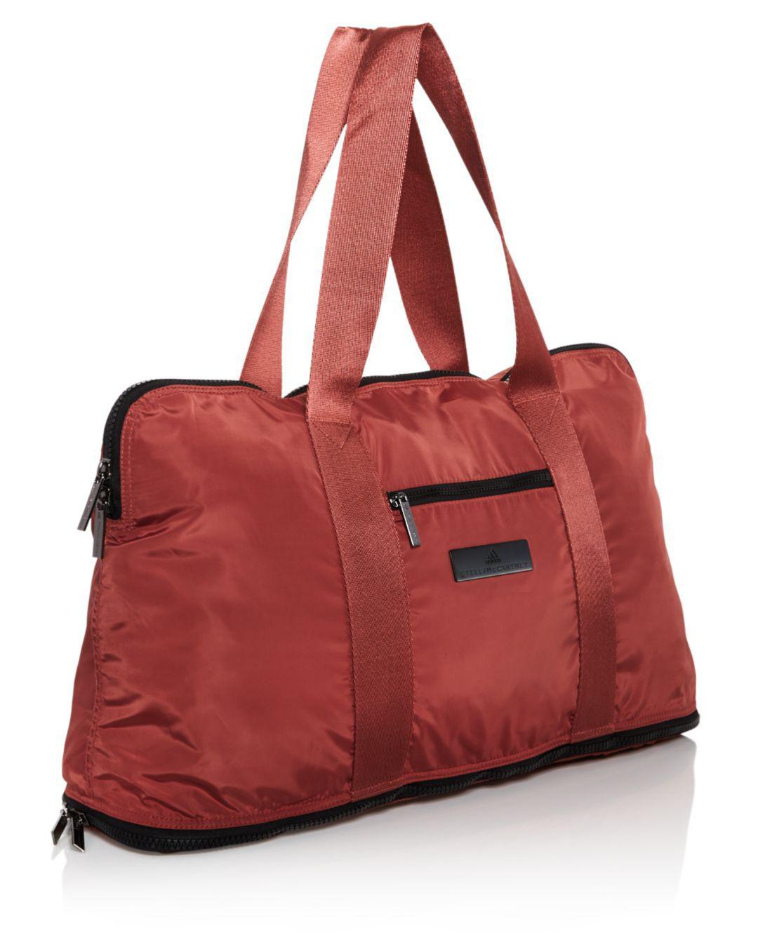 e6673406829 Lyst - Adidas By Stella Mccartney Yoga Gym Bag in Red