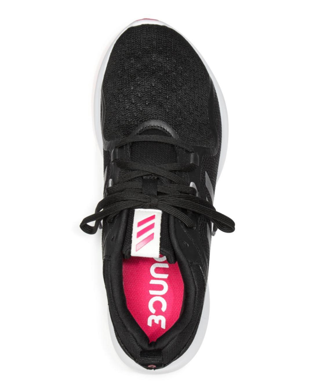 sale retailer e5a49 aa77e Adidas - Black Womens Edgebounce Mesh Lace Up Sneakers - Lyst. View  fullscreen