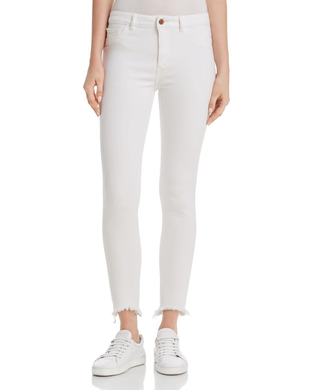 Farrow Instaslim Skinny Ankle Jeans, Eggshell DL Premium Denim