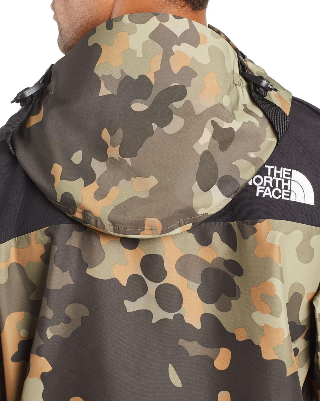 The North Face Mountain Camouflage Print Anorak Jacket For