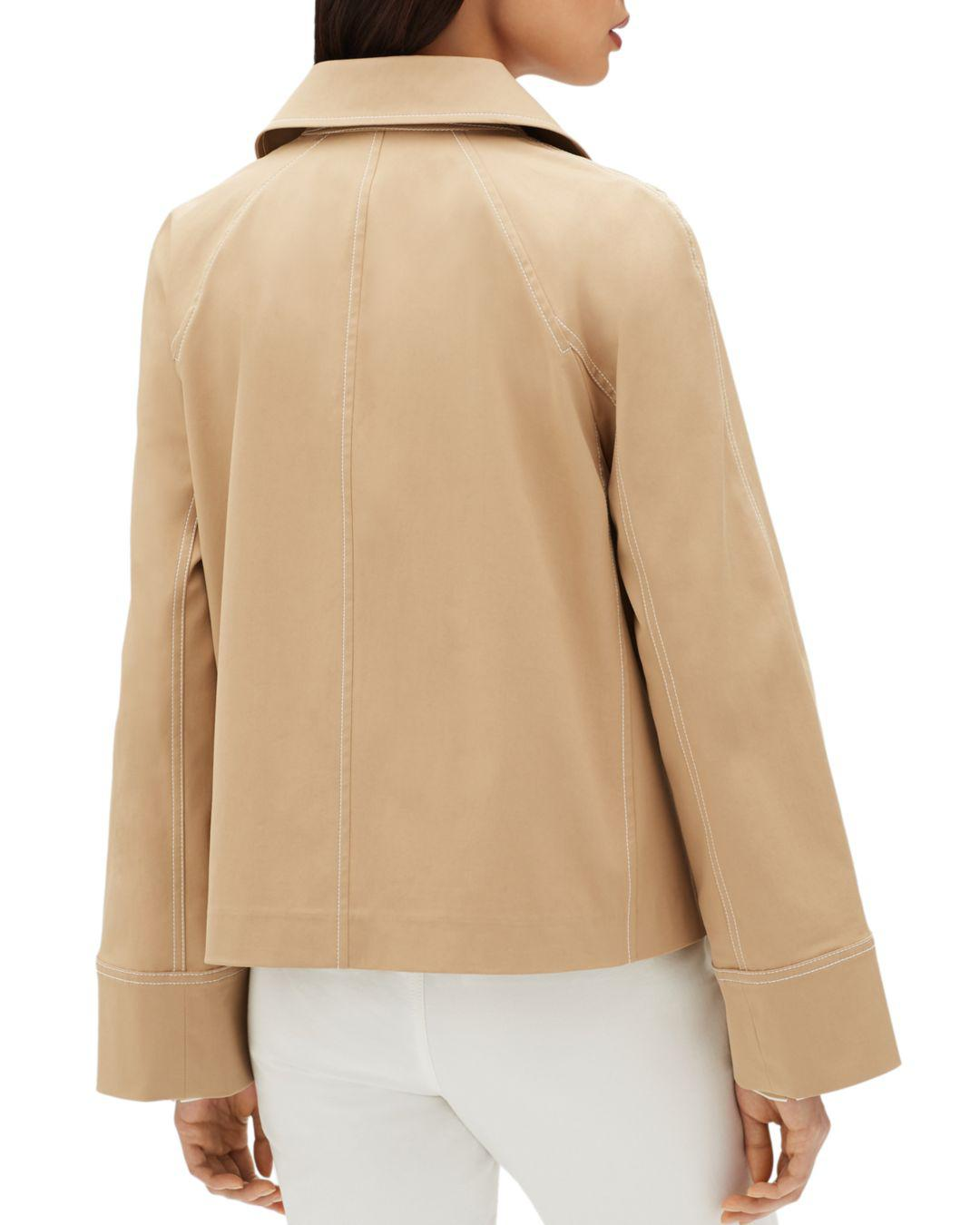 1c37643fbf3 Lyst - Lafayette 148 New York Asher Double Breasted Jacket in Natural -  Save 40%