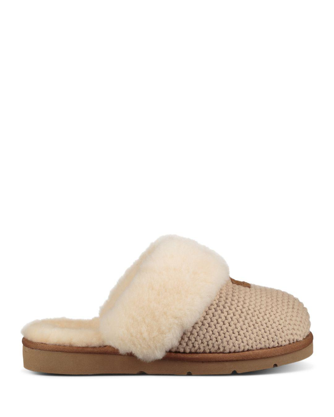 38c2bba26 Lyst - UGG Cozy Knit Slipper in Natural