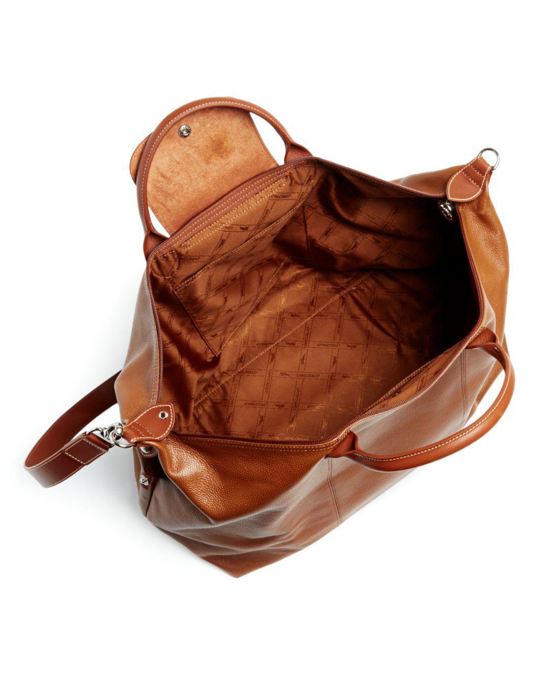 177d8a84f3a8 Lyst - Longchamp Le Foulonné Leather Duffel Bag in Brown for Men