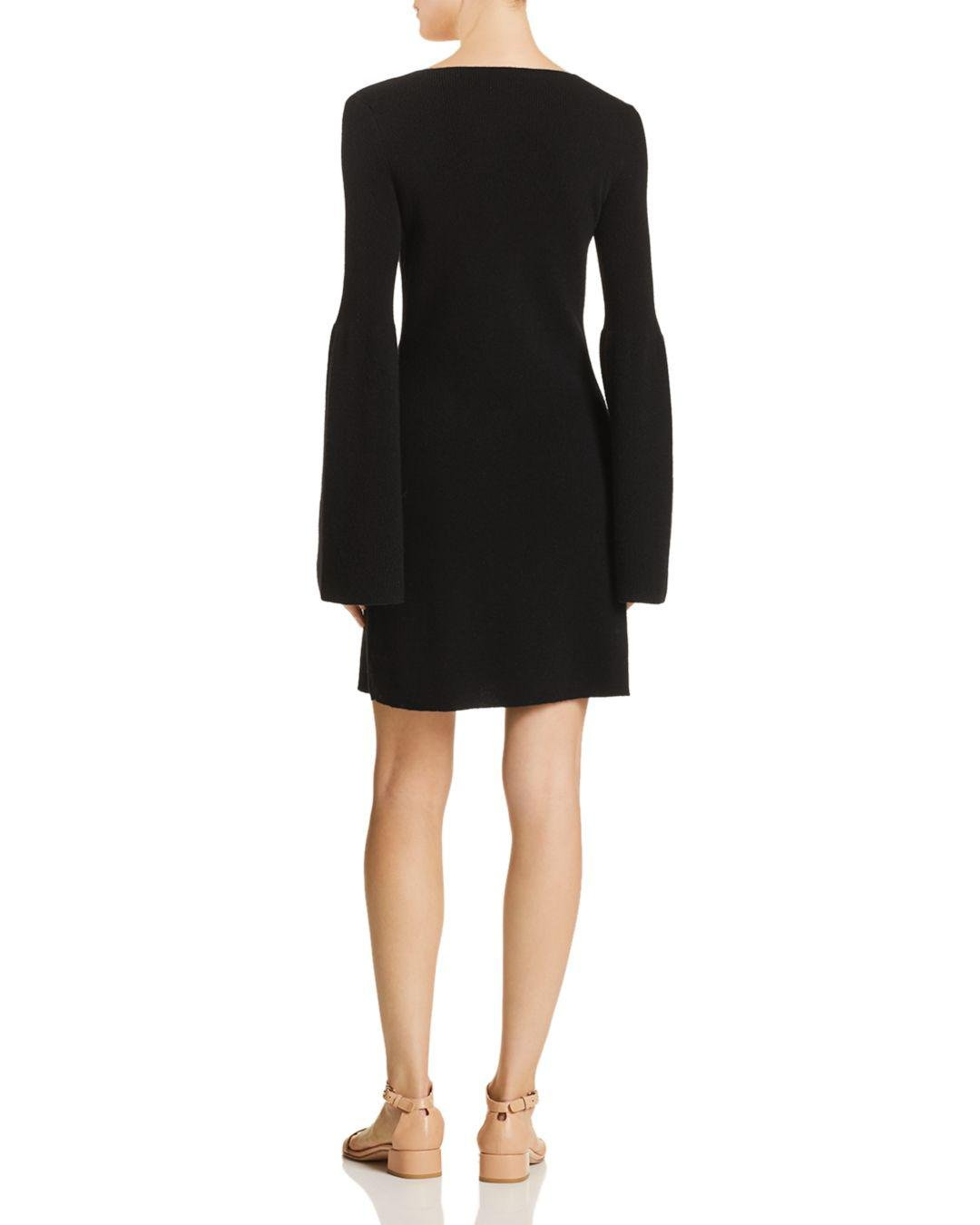 7922d0c257b Lyst - Theory Cashmere Sweater Dress in Black