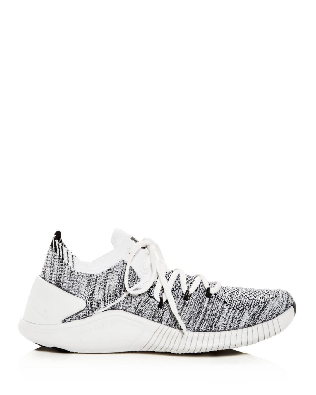 08f57d3ad1e4 Lyst - Nike Women s Free Tr 3 Flyknit Low-top Sneakers in White