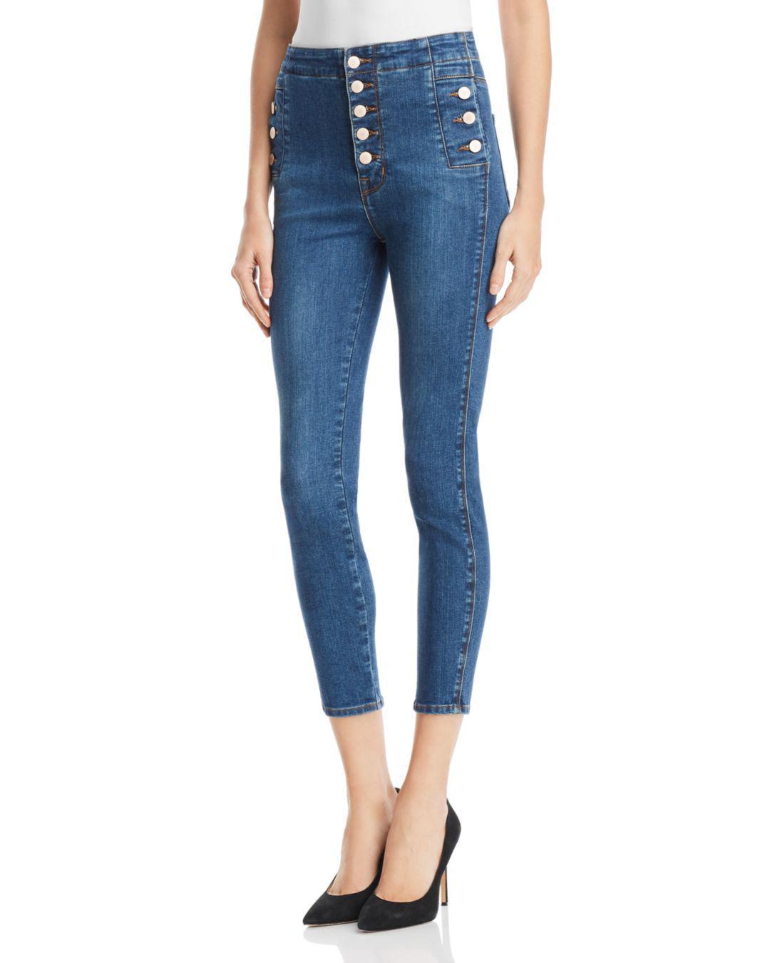 a0acaa69cee J Brand Natasha Sky High Skinny Crop Jeans In Lovesick in Blue - Lyst