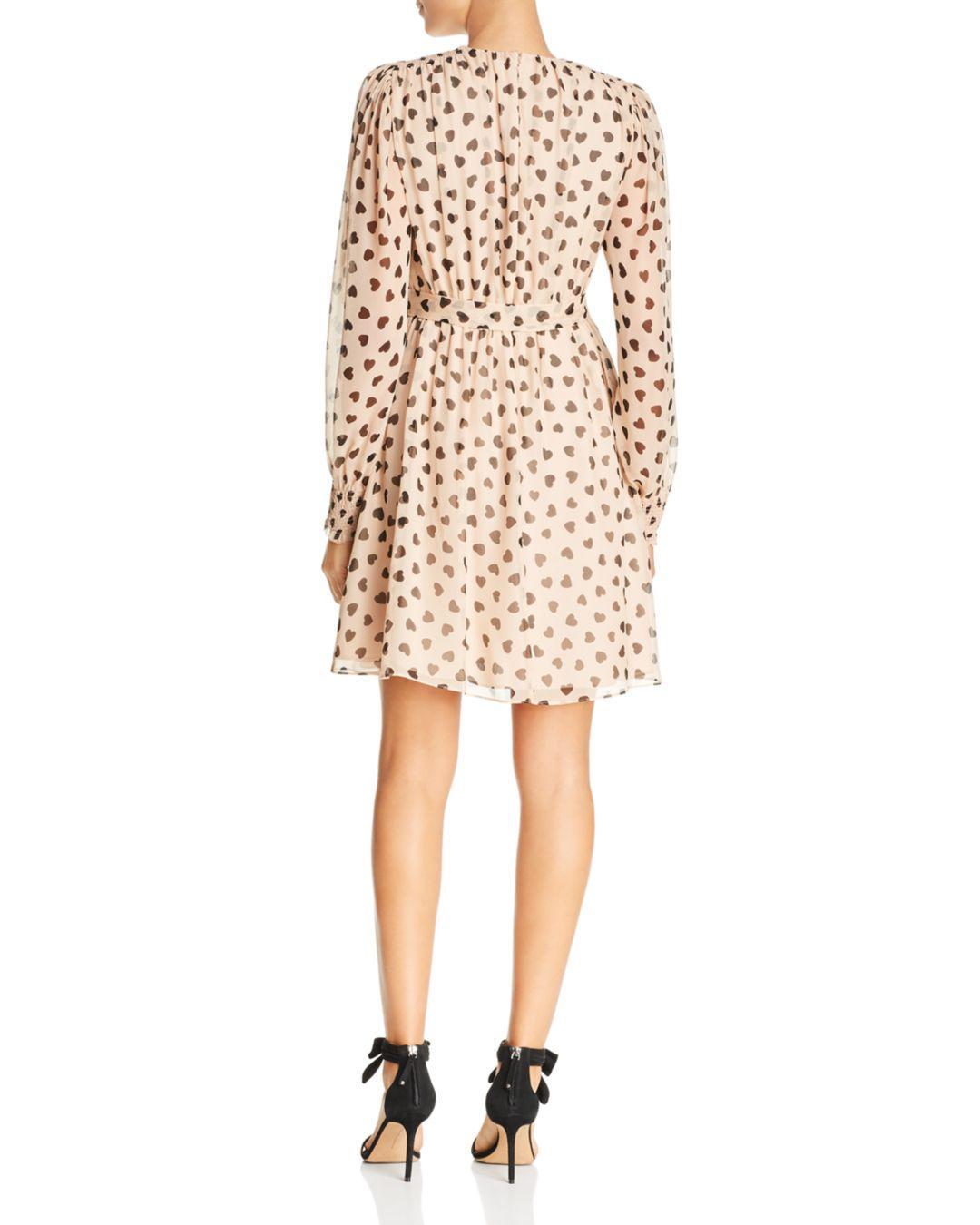 a6ec6968d098 Kate Spade Heart It Heartbeat Silk Mini Dress (roasted Peanut) Dress in  Natural - Lyst