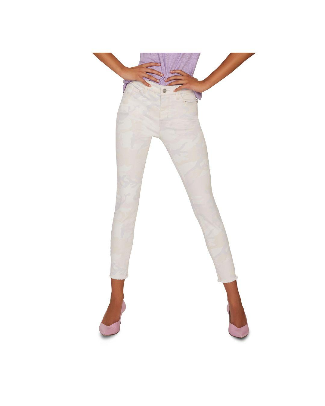 74f42ac95d Sanctuary Social Standard Cropped Skinny Jeans In Charming Camo - Lyst