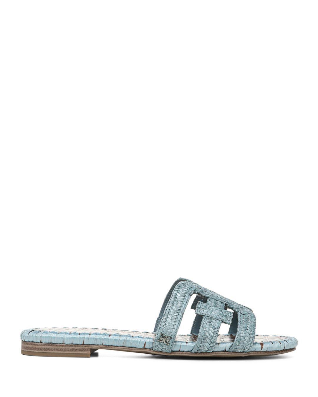 c8ff3fc5b Sam Edelman Women s Beckie Woven Slide Sandals in Blue - Lyst