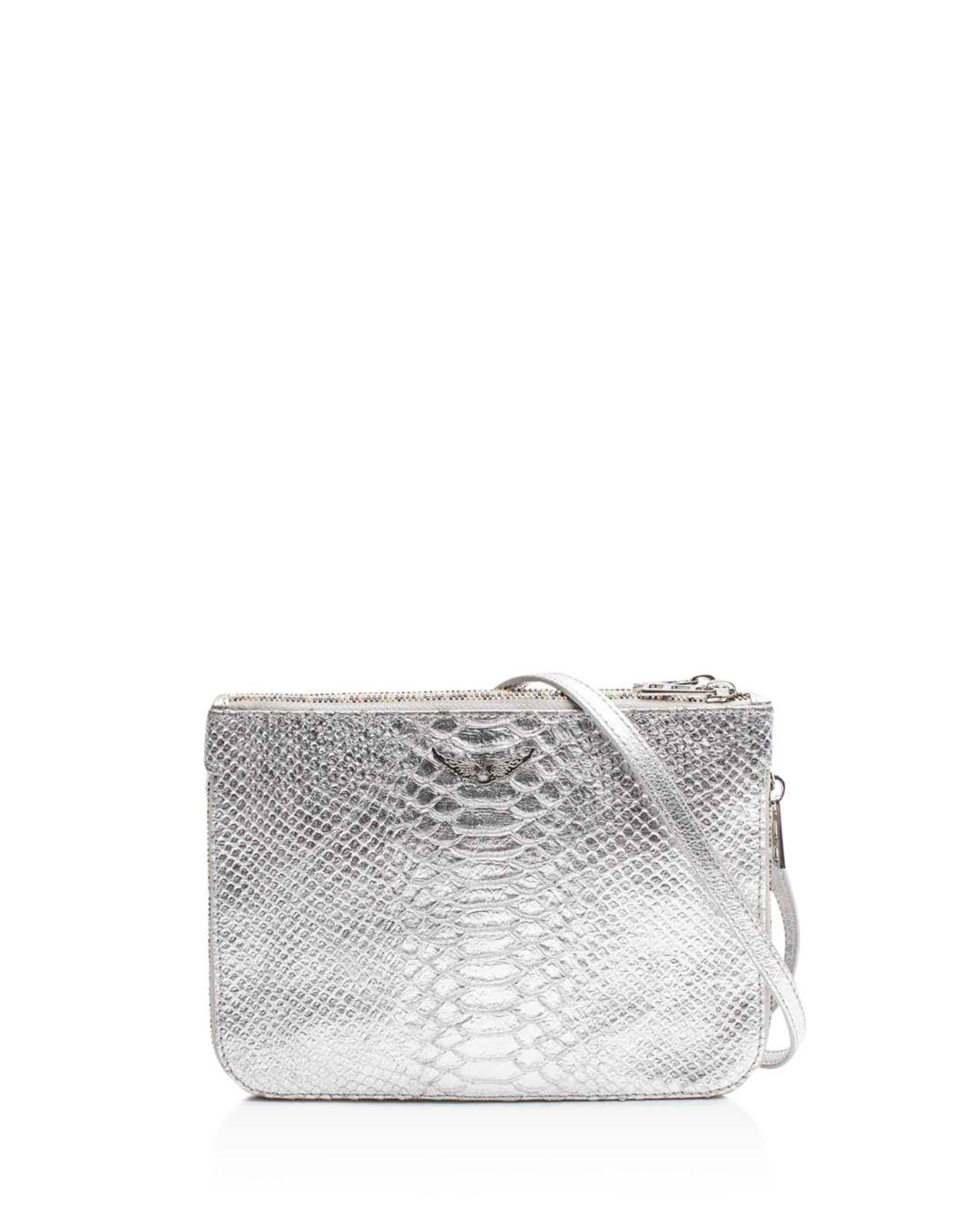 Zadig   Voltaire Clyde Embossed Leather Crossbody in Metallic - Lyst fce75772fee2e