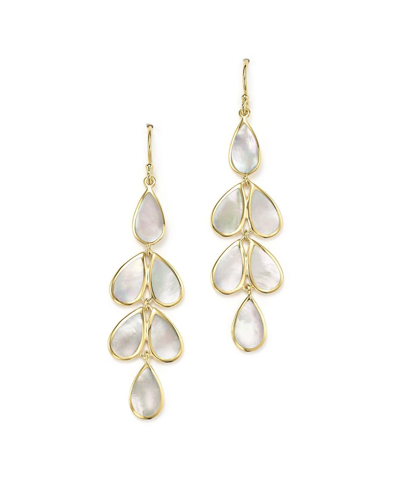 Ippolita 925 Rock Candy Teardrop Cascade Earrings in Mother-of-Pearl VgG9WqliB