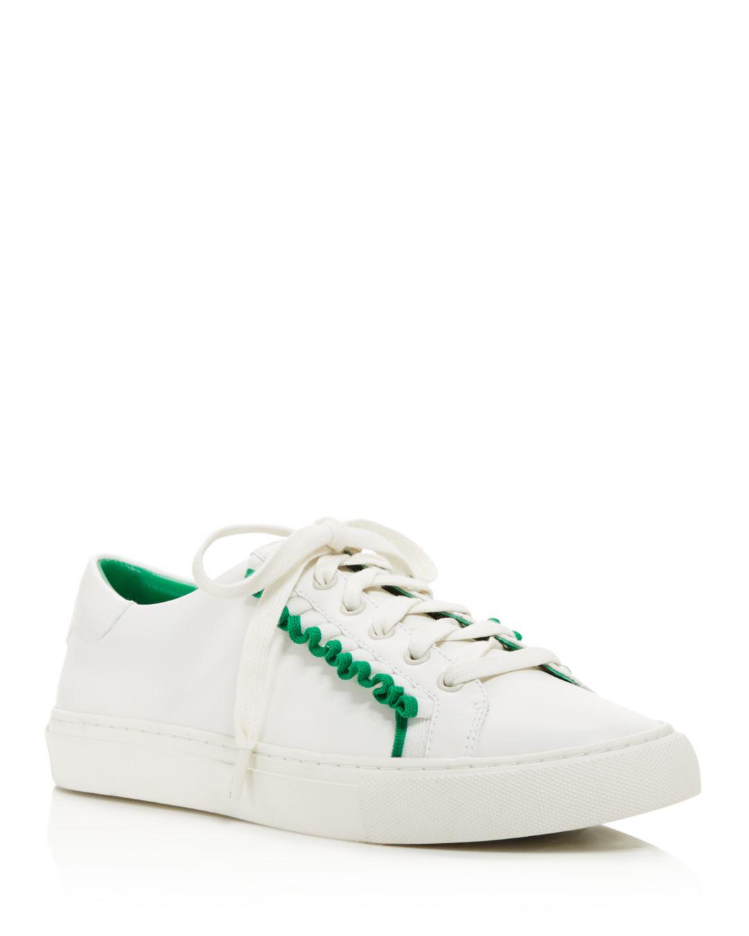 5cd709a09ba Lyst - Tory Sport Ruffle Low Top Lace Up Sneakers in White - Save 1%