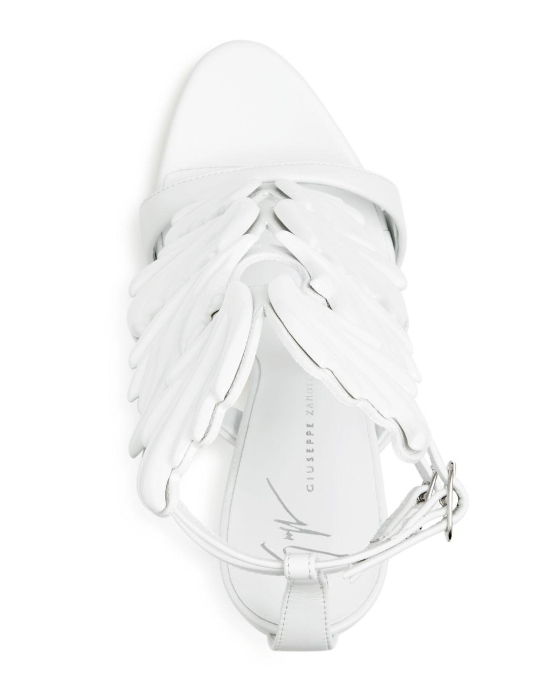 095691a314af1 Giuseppe Zanotti Women's Cruel Coline Leather Wing Embellished High ...