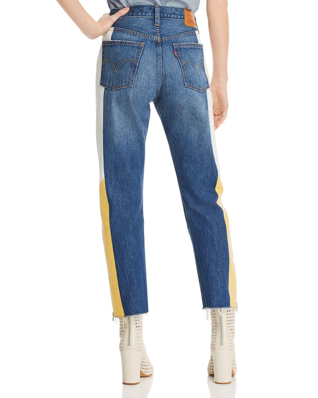 b89e434c359d Lyst - Levi s 501 Moto Straight Jeans In Show Teeth in Blue