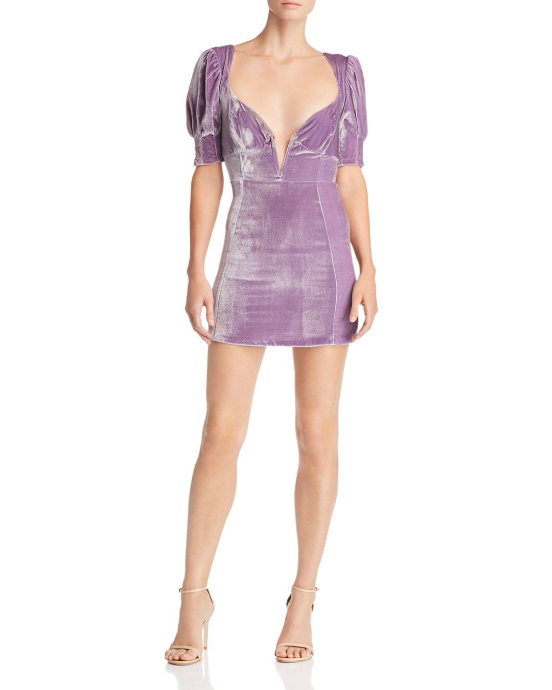 03efcf06547 For Love   Lemons Viva Deep V Mini Dress in Purple - Save 31% - Lyst