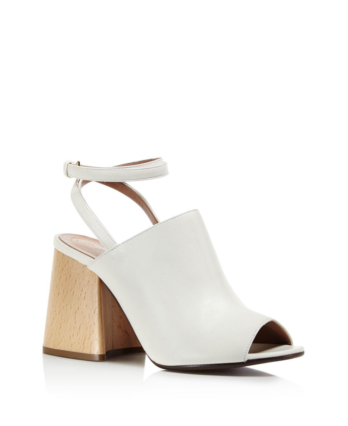 74b86ec33d97 Lyst - Marni Ankle Strap Block Heel Sandals in White
