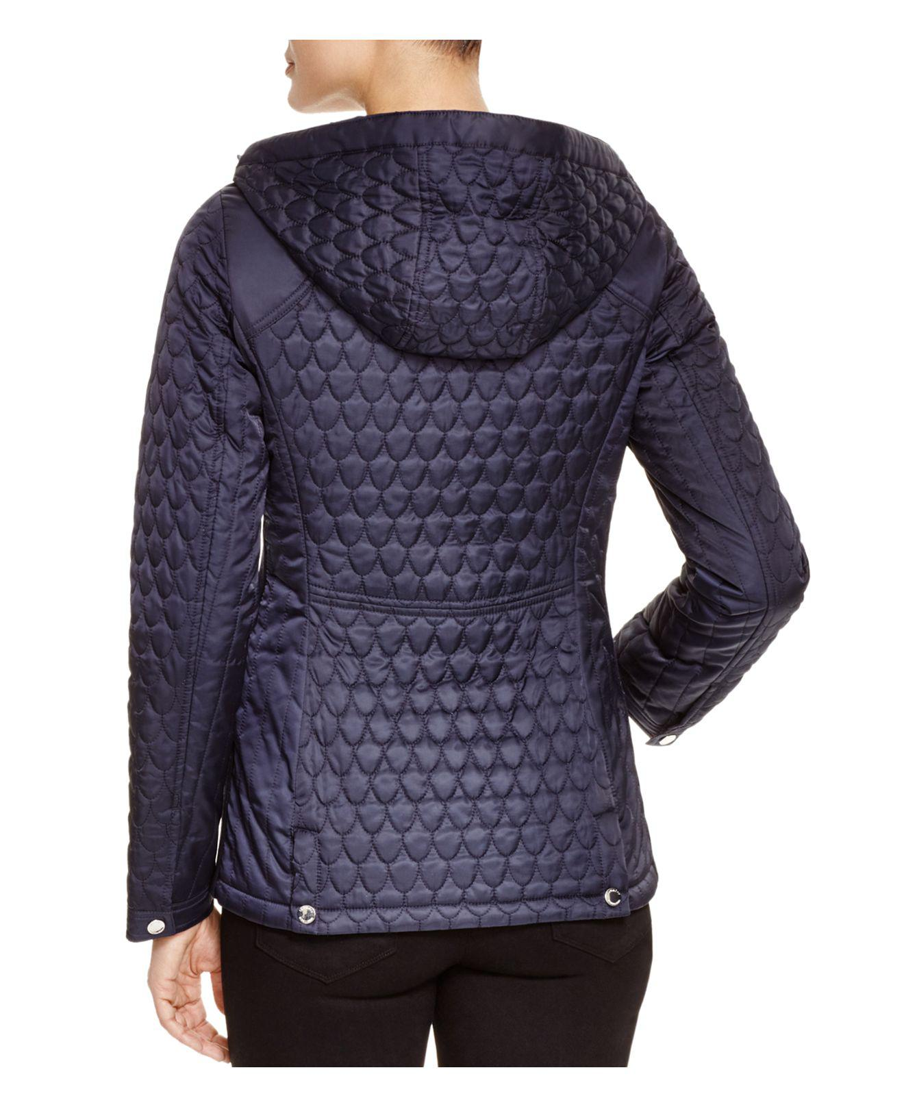 Lyst Laundry By Shelli Segal Quilted Hooded Jacket In Blue