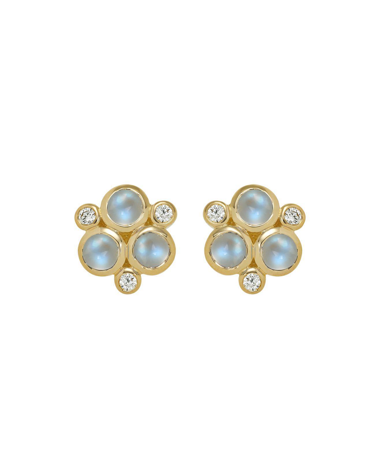 Temple St. Clair Estate Trio Moonstone & Diamond Earrings P4YOV79