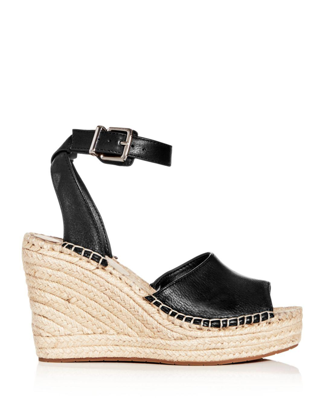 85e16046649 Lyst - Kenneth Cole Women s Olivia Espadrille Wedge Sandals in Black - Save  32%