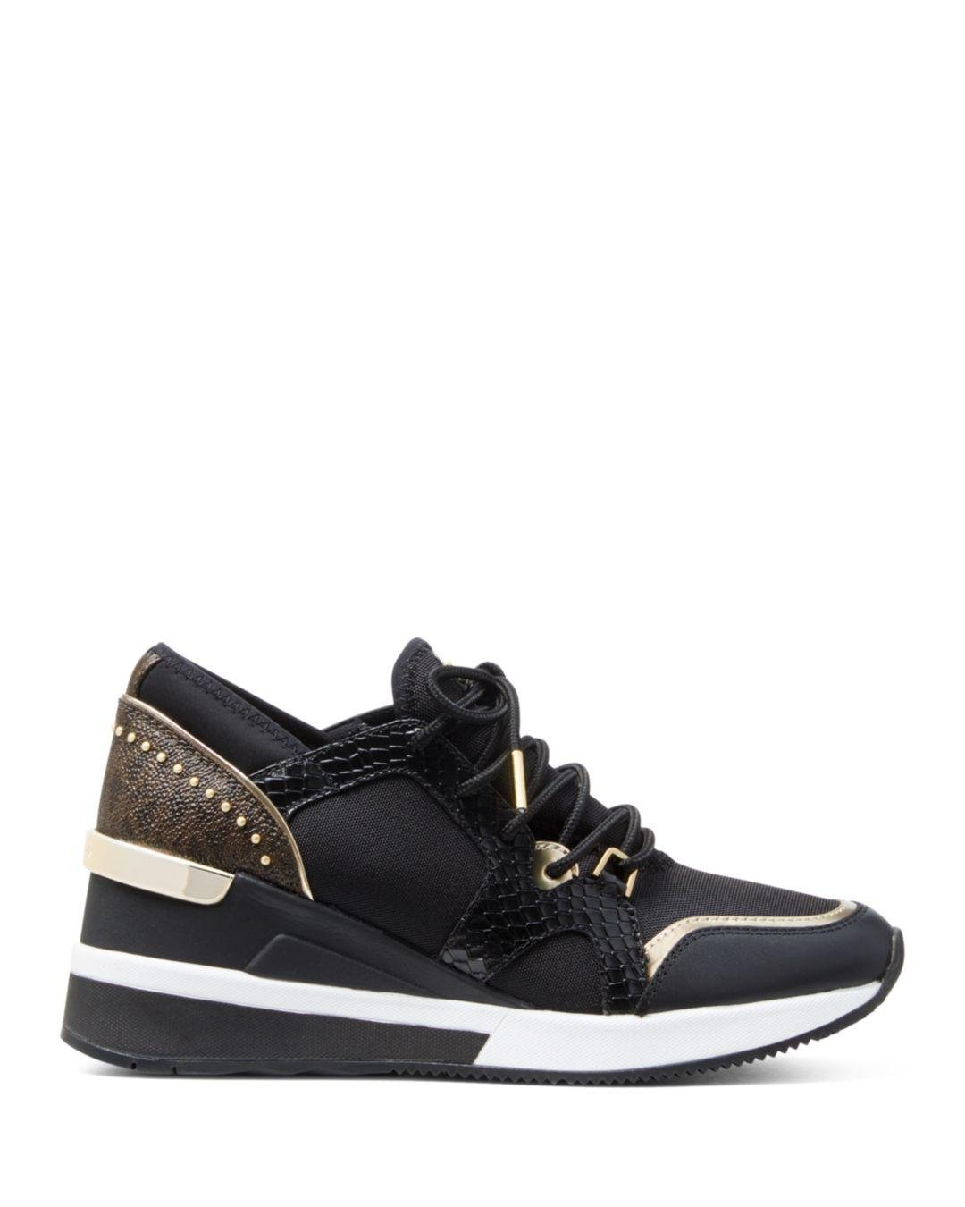3a3f24f8070a Lyst - Michael Kors Michael Liv Trainer Sneakers in Black
