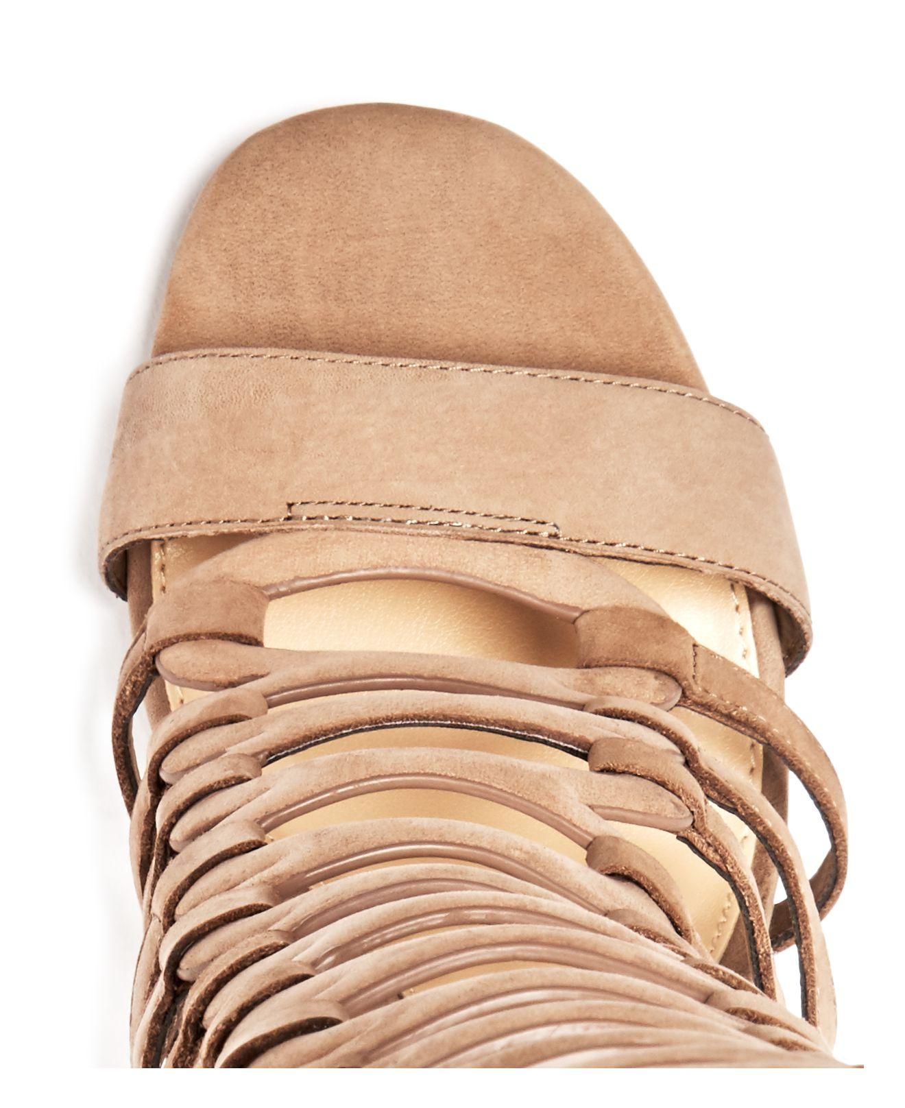 ebdd850e7b77 Vince Camuto Chesta Caged Gladiator Sandals in Natural - Lyst