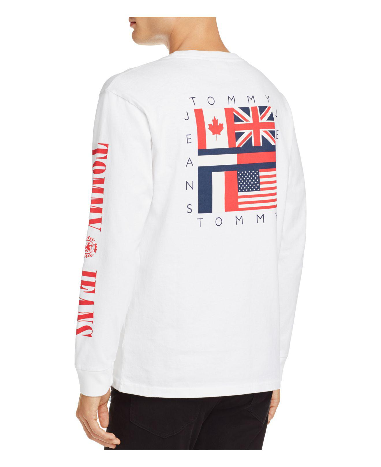 984c41f3a4c3 Tommy Hilfiger Tommy Jeans 90 s Logo Long Sleeve Crewneck Tee in ...