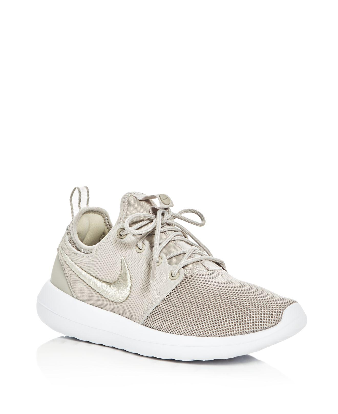 innovative design 676e0 795c8 Lyst - Nike Women s Roshe Two Lace Up Sneakers in White
