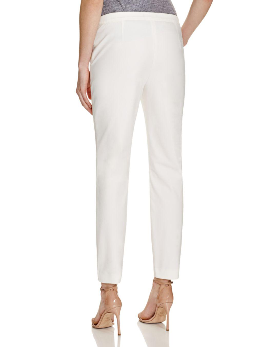 4ce2cb7334 Lyst - Theory Pants - Thaniel Approach in White