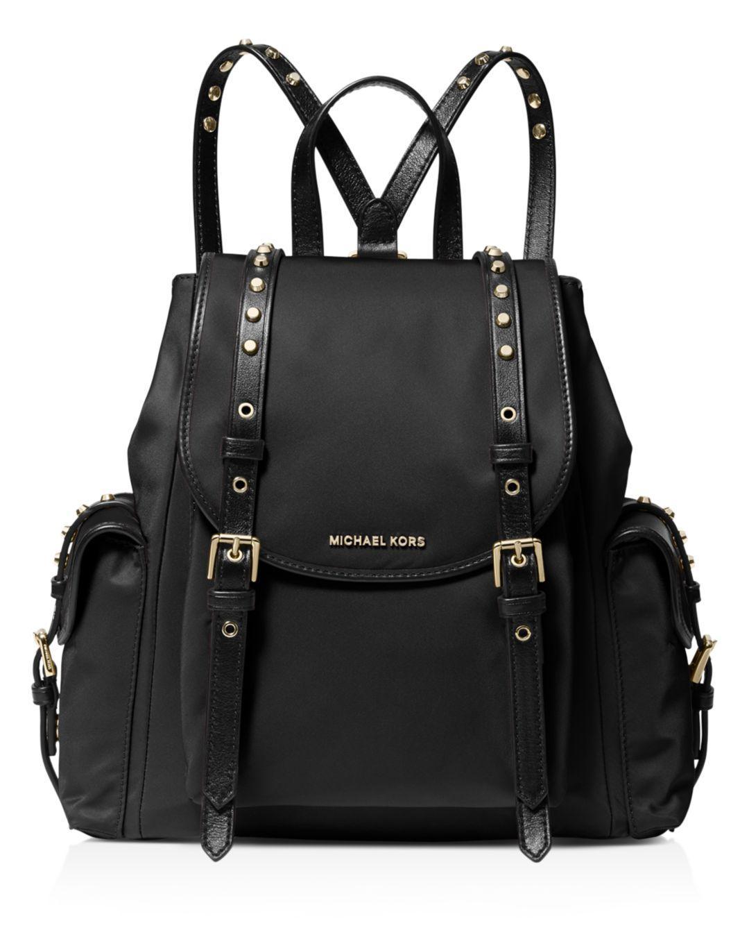 76ad6bc256ec MICHAEL Michael Kors Leila Small Flap Backpack in Black - Save 47 ...