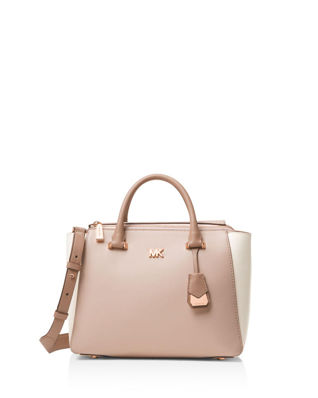 287ceab2ca86 Lyst - MICHAEL Michael Kors Nolita Medium Leather Satchel in Pink