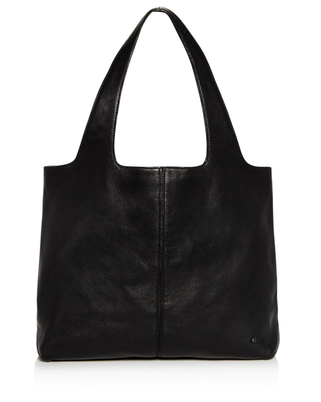 Lyst - Halston Heritage Tina Large Open Soft Leather Tote in Black 647ce19d2c59a
