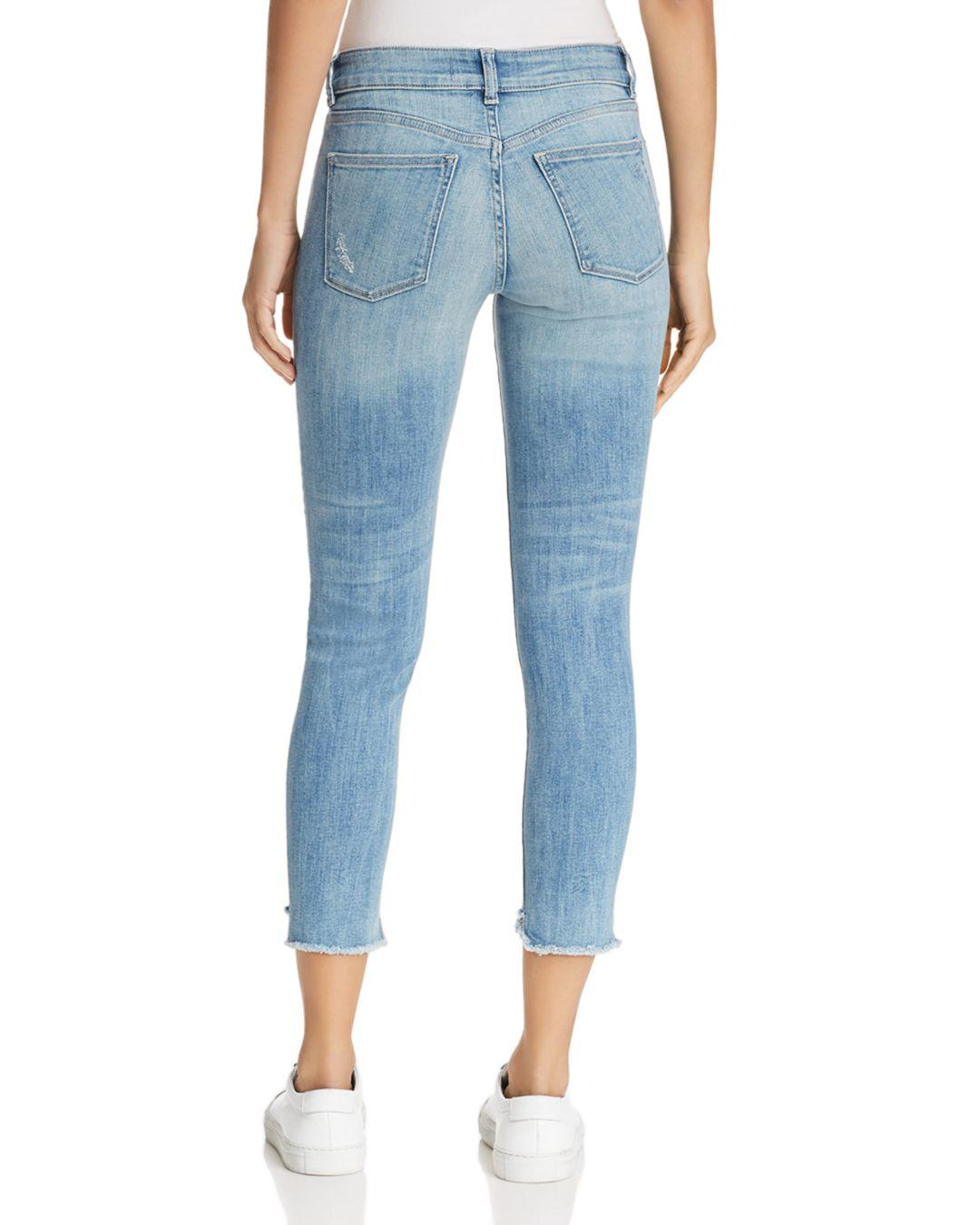 9d8f70ae7c98b Lyst - DL1961 Florence Instasculpt Crop Skinny Jeans In Hendrix in Blue