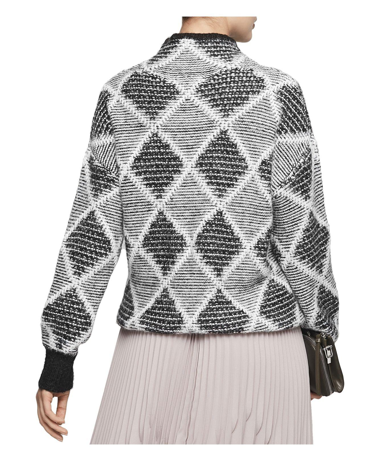 6be392cc3 Lyst - Reiss Sophie Patterned Sweater