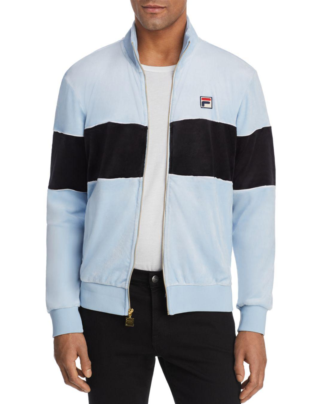 037fd3855ac5 Fila Rocco Color-block Velour Jacket for Men - Lyst