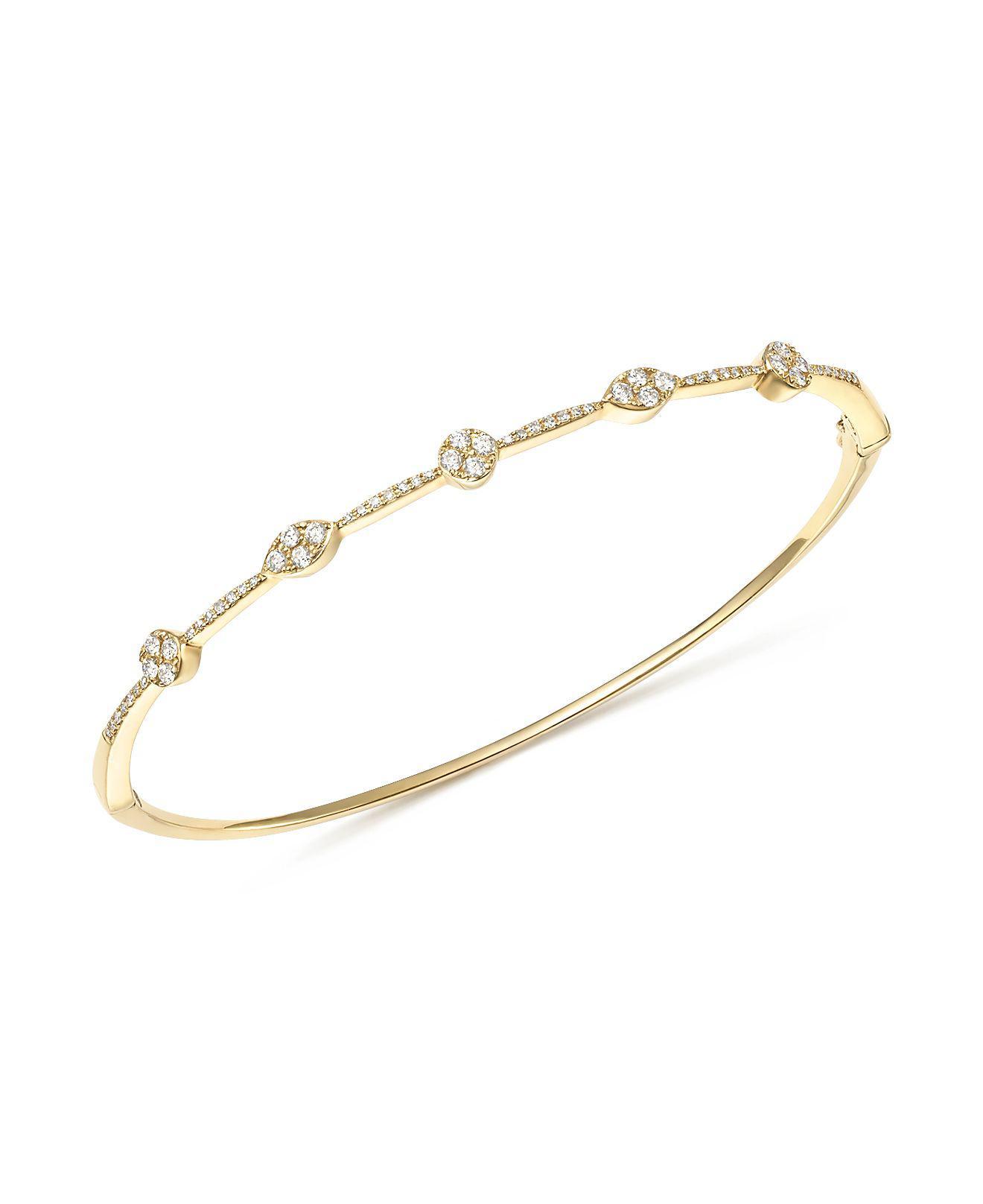 KC Designs 14k White Gold Diamond Disc Initial Bracelet QTt4JGnZ